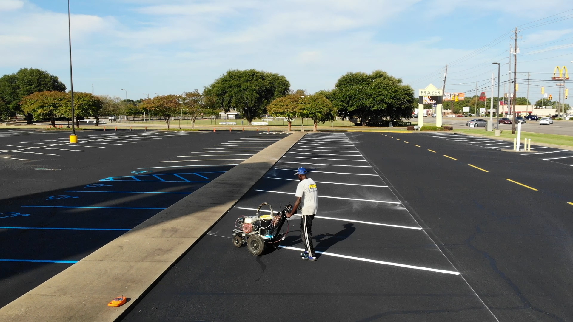 painting lines at frazier