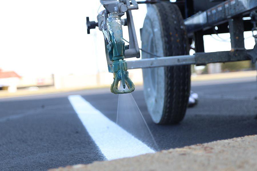 parking lot spray paint