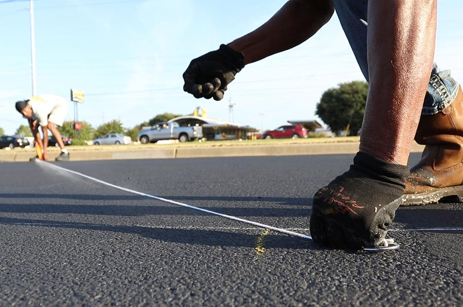 parking lot lining and striping